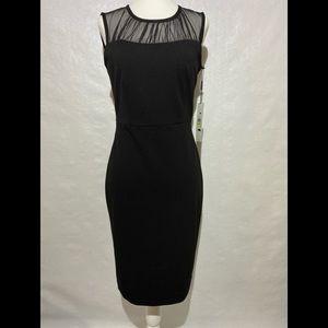 Calvin Klein Sleeveless Sheath Yolk Dress